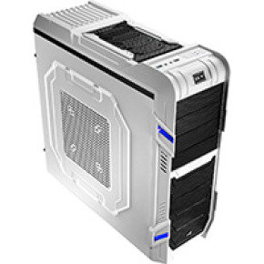Aerocool GT-R White Midi Tower Gaming Case 18cm Blue LED Fan USB3 Toolless