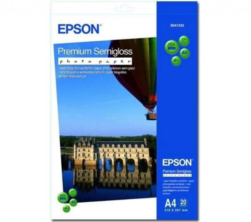Epson Premium A4 251gsm Semigloss Photo Paper  20 Sheets