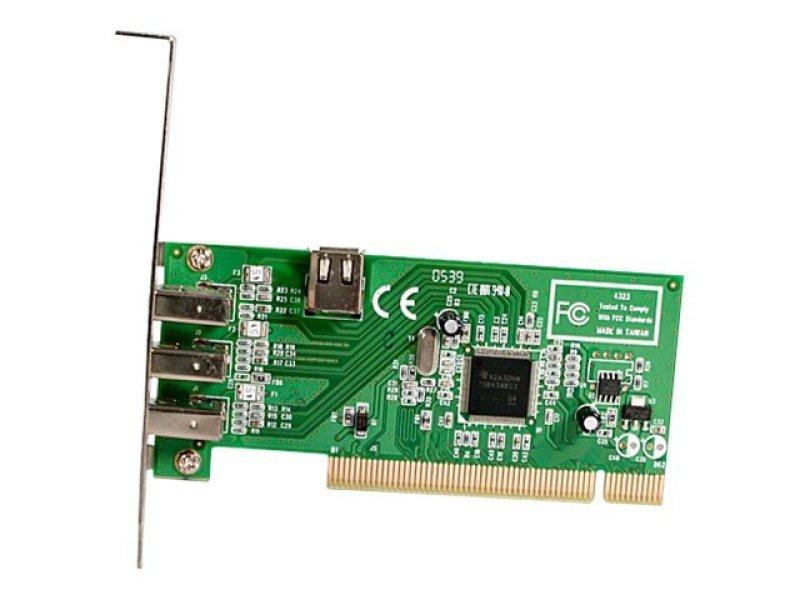 EXDISPLAY Startech 4 Port PCI 1394a FireWire Adapter Card (3 Internal + 1 External Port)