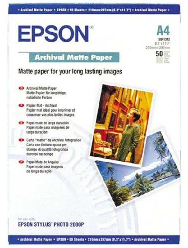 Epson Archival A4 192gsm Matte Photo Paper  50 Sheets