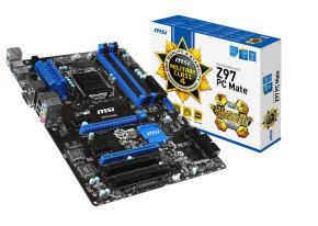 EXDISPLAY MSI Z97 PC Mate Socket 1150 VGA DVI HDMI 8 Channel Audio ATX Motherboard