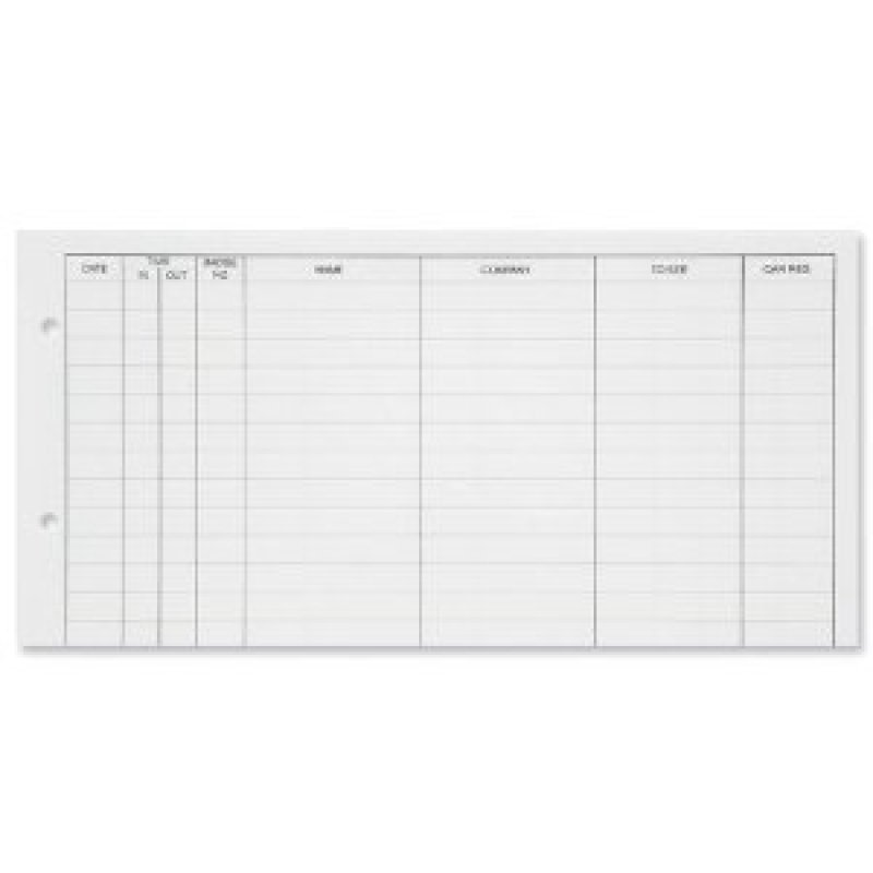 Guildhall Visitors Book Loose-leaf Refill - 50 Sheets