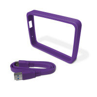 WD Picasso Grip Pack For use with WD Ultra portable Hard Drive Grape