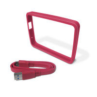 WD Picasso Grip Pack For use with WD Ultra portable Hard Drive Fuchsia