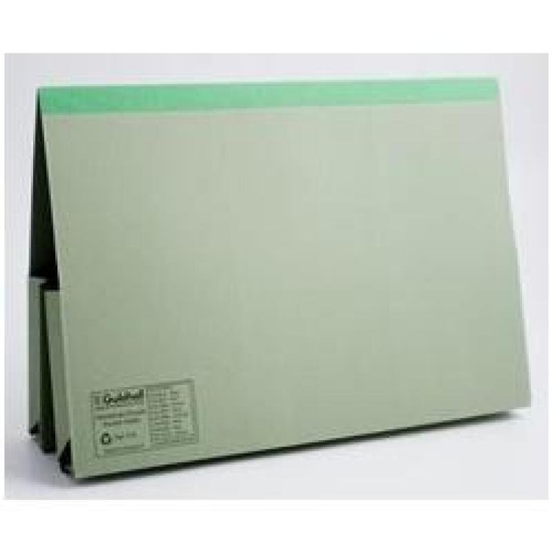 Guildhall Reinforced Double Pocket Document Wallet - Green