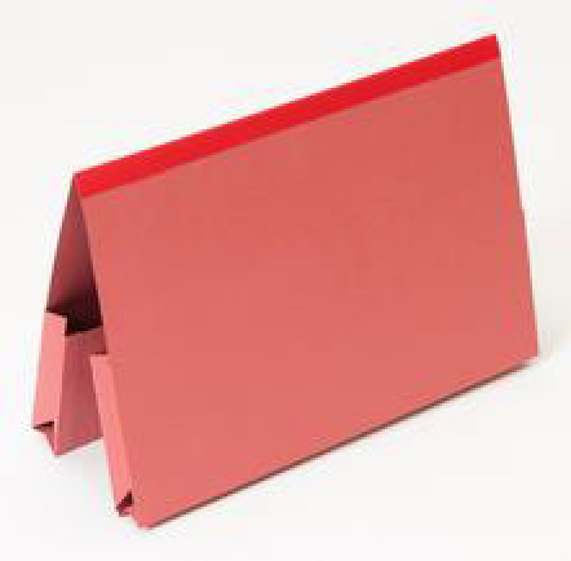 Guildhall Reinforced Double Doc Wallet - Red