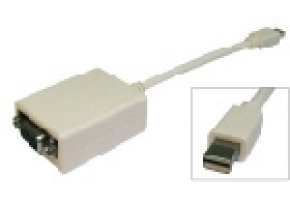 Cables Direct Mini Display Port To VGA Adapter 15cm (For MacBook, MacBook Pro, & MacBook Air)