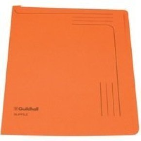 Guildhall Manilla Slipfile Open 2 Side - Orange