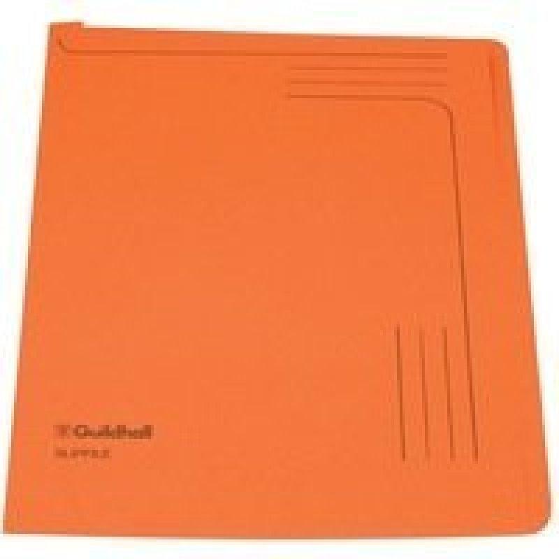 Guildhall Manilla Slipfile Open 2 Side - Orange