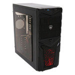 CiT Invader Gaming Case 12cm Red LED Fan Side Window 1 x USB 3.0 & 1 x USB 2.0