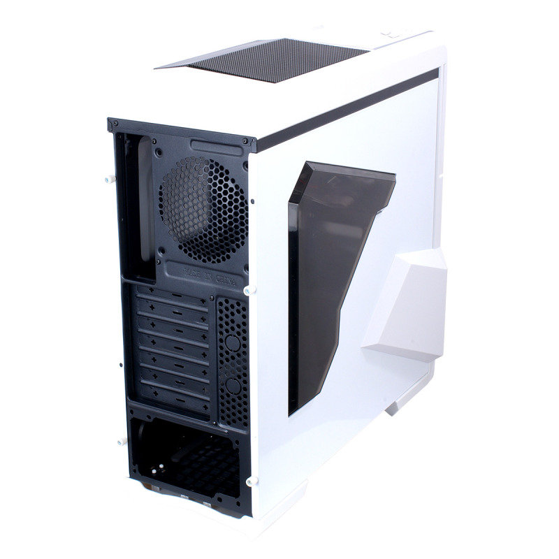 CiT Spectre Gaming Case 2 x USB3 Side Window Toolless Card Reader White