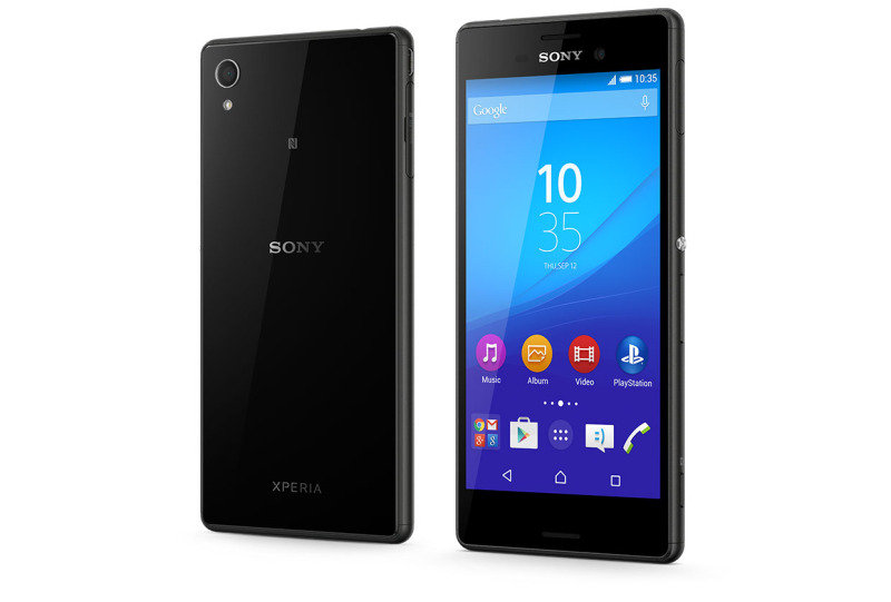 "Image of 1293-7168 Sony M4 Aqua Smartphone - Black - 5"" IPS Display - Qualcomm Snapdragon 615 Octa (1.5 GHz) - 13MP Main + 5MP Front Camera - 8GB Storage + expandable microSD (128GB) - Android 5.0 (Lollipop)"