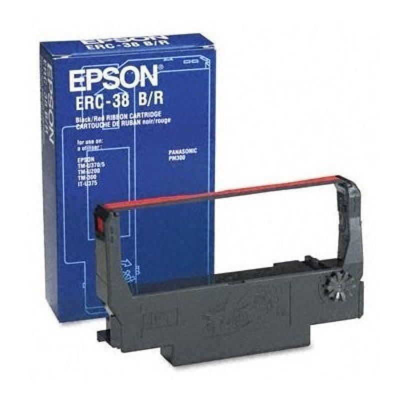 Epson ERC 38BR Black, red Print ribbon
