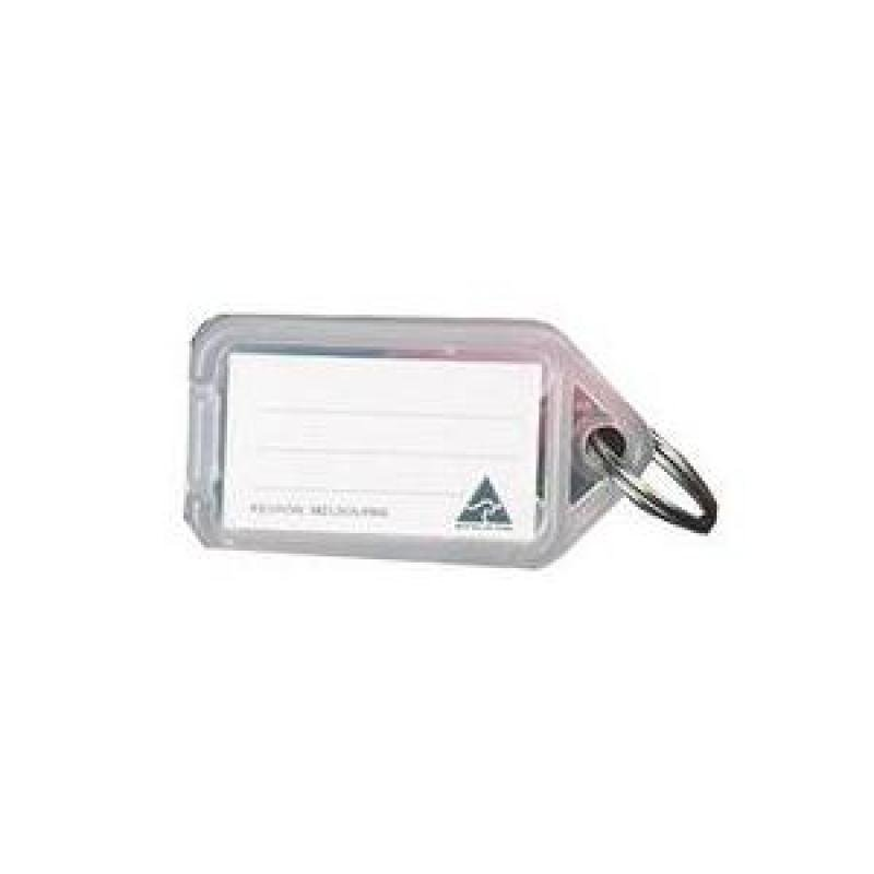 Image of Kevron Keytags Plastic Tub Clear - Pack of 100