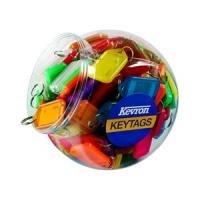 Kevron Keytags Plastic Tub Assorted - Pack of 150