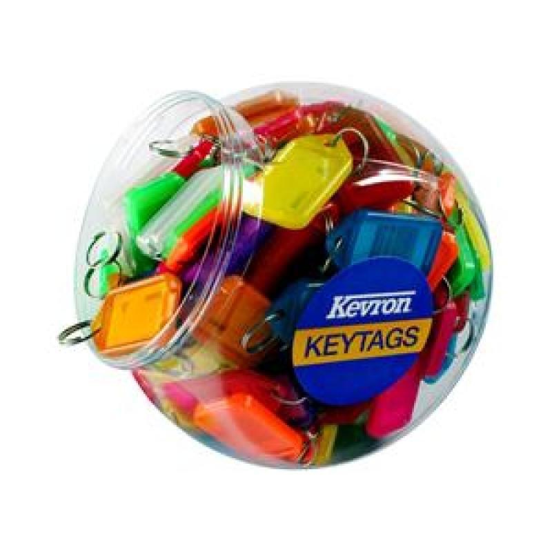 Image of Kevron Keytags Plastic Tub Assorted - Pack of 150
