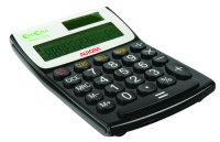 Aurora EcoCalc 12 Digit Calculator - Black