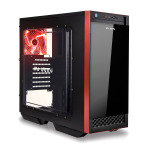 In Win 503 Mid tower Glass front case Led Fan Red & Black