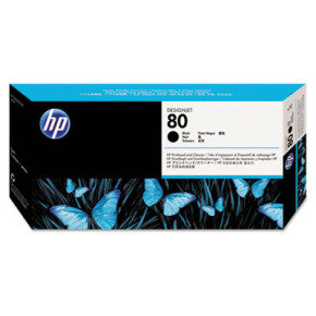 HP 80 Black Printhead with Cleaner - C4820A