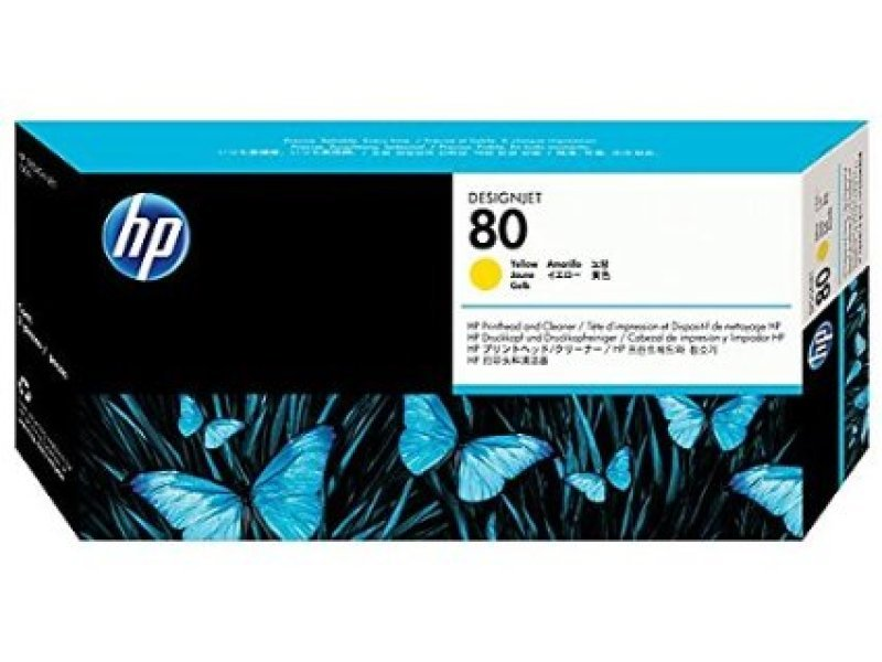 HP 80 Yellow Printhead with Cleaner  C4823A
