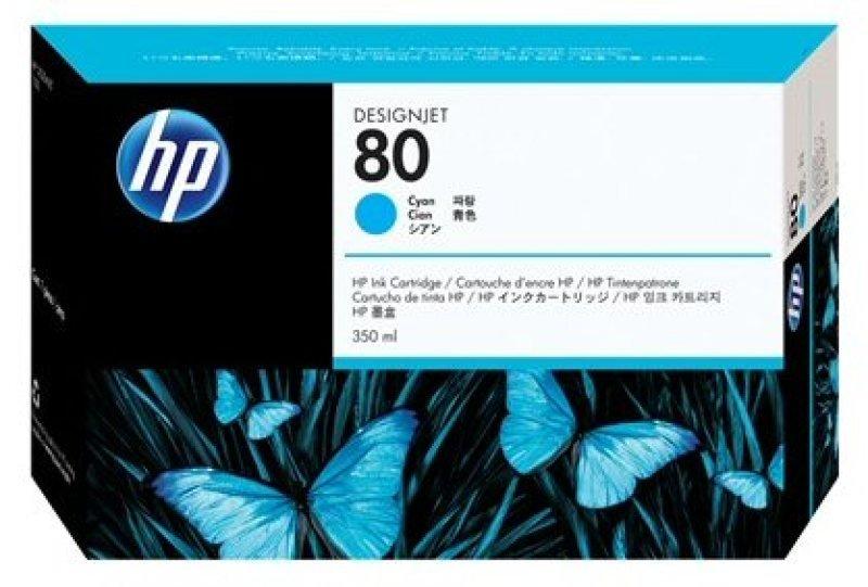 HP 80 350ml Cyan Ink Cartridge - C4846A