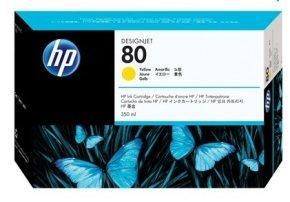 HP 80 350ml Yellow Ink Cartridge - C4848A