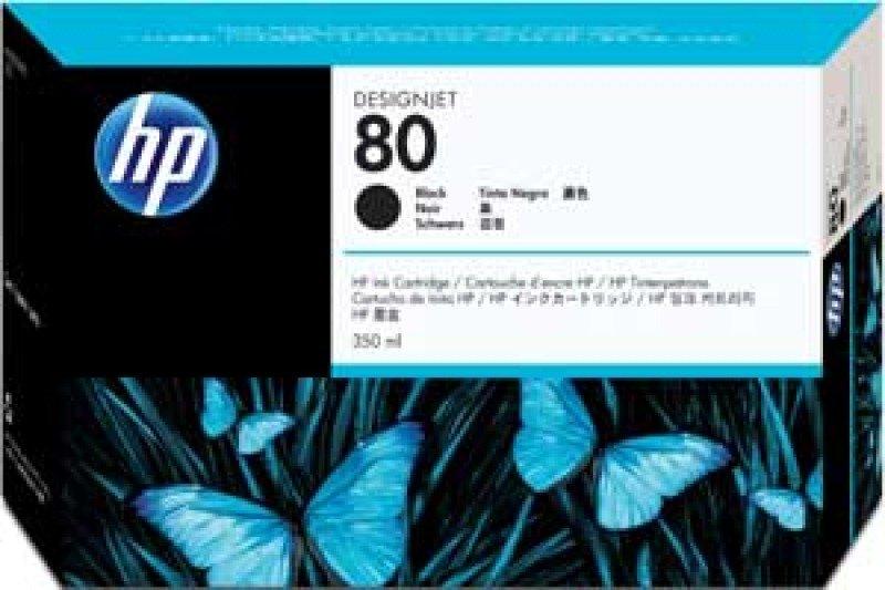 HP 80 350ml Black Ink Cartridge - C4871A