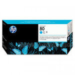 HP 80 Cyan Original Ink Cartridge - Standard Yield 175ml - C4872A
