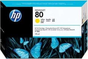 HP 80 175ml Yellow Ink Cartridge - C4873A