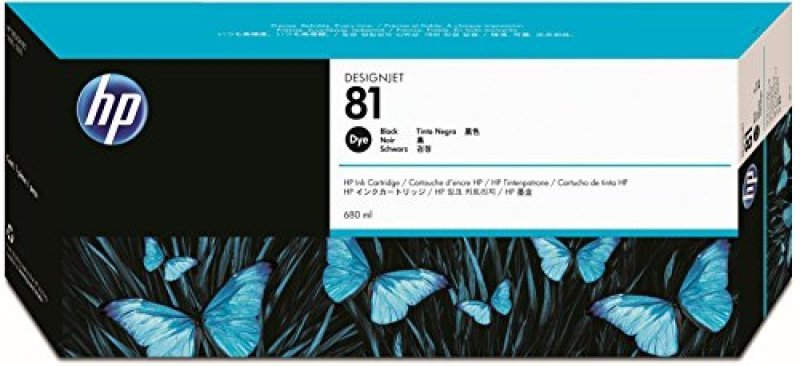 HP 81 Black Original Ink Cartridge - Standard Yield 680ml - C4930A