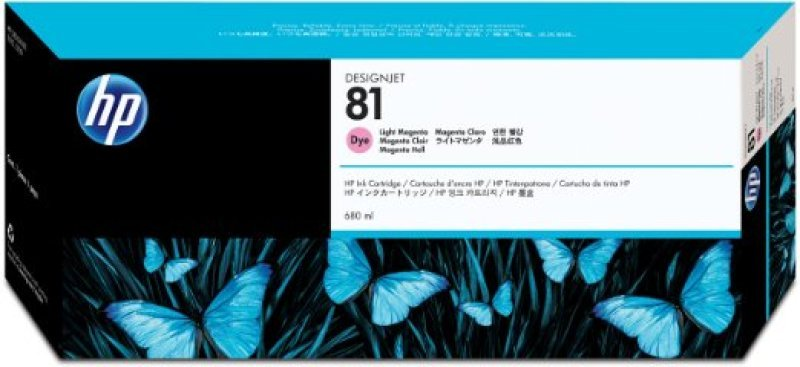 HP 81 Light Magenta Original Ink Cartridge - Standard Yield	680ml - C4935A