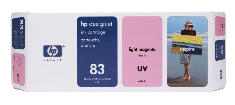 HP 83 Light Magenta OriginalUV Ink Cartridge - Standard Yield 680ml - C4945A