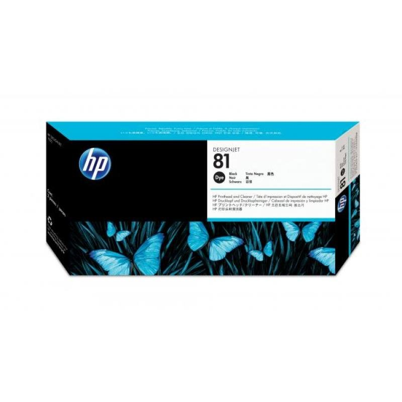 HP 81 Black Original Printhead & Printhead Cleaner For use with - Designjet 5000/PS & 5500/PS - C4950A