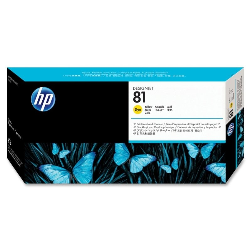 HP 81 Yellow OriginalPrinthead & Printhead Cleaner For use with - Designjet 5000/PS & 5500/PS - C4953A