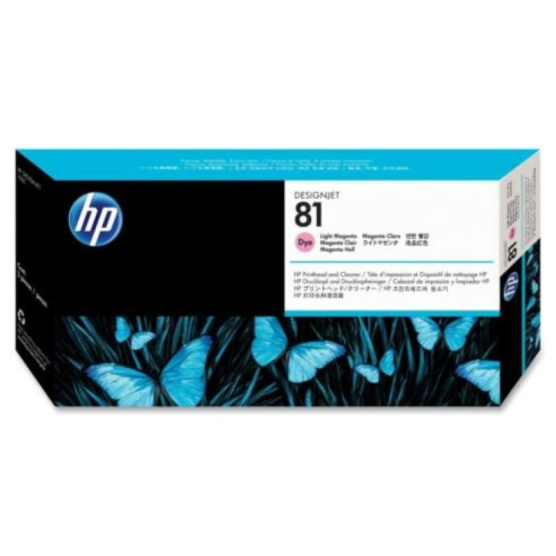 HP 81 Light Magenta OriginalPrinthead & Printhead Cleaner For use with - Designjet 5000/PS & 5500/PS - C4955A