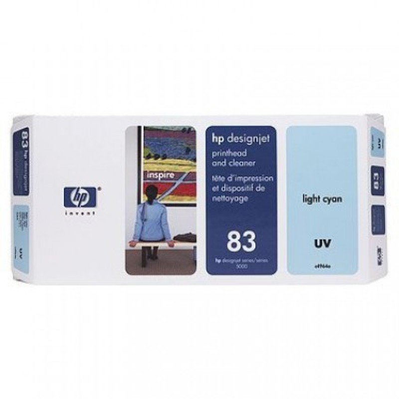 HP 83 Light Cyan Original UV Printhead & Printhead Cleaner For use with - HP Designjet 5000 & 5500 - C4964A