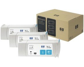HP 81 Cyan Ink Cartridge - 3 Pack - C5067A