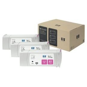 HP 81 Magenta Ink Cartridge - 3 Pack - C5068A