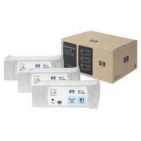 HP 81 680ml Light Cyan Ink Cartridge - 3 Pack - C5070A