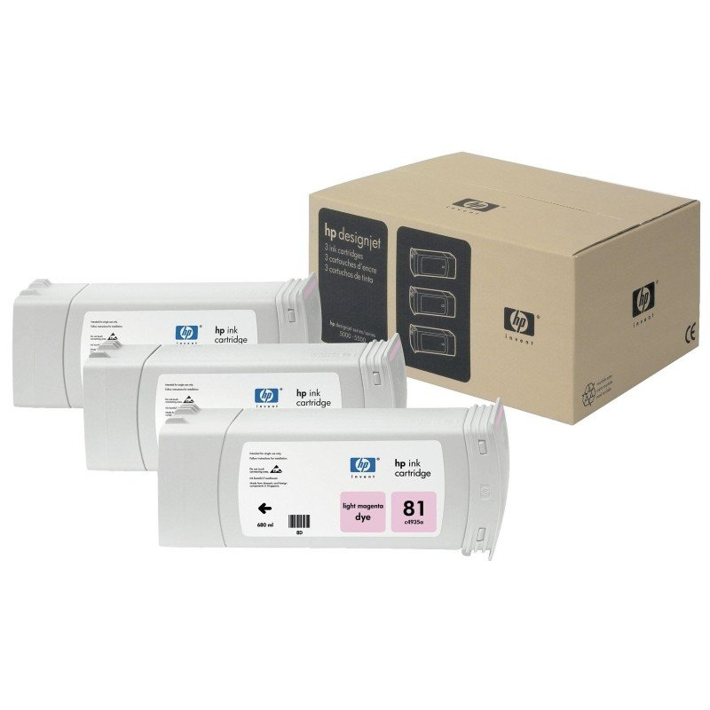 HP 83 UV Light Magenta Print Cartridge - Pack of 3