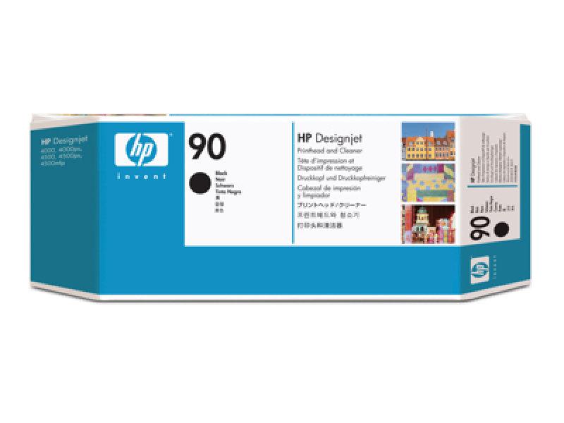 HP 90 Black Original Printhead & Printhead Cleaner For use with - Selected Printers* - C5054A