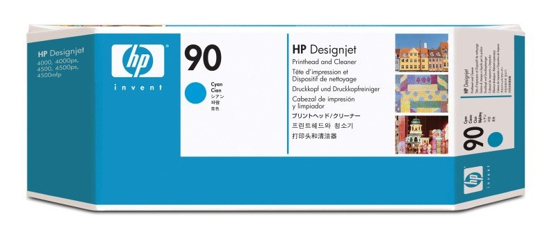 HP 90 Cyan OriginalPrinthead & Printhead Cleaner For use with - Selected Printers* - C5055A