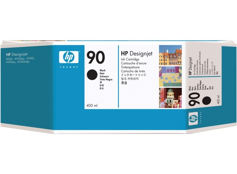 HP 90 Black Original Ink Cartridge - High Yield 400ml - C5058A