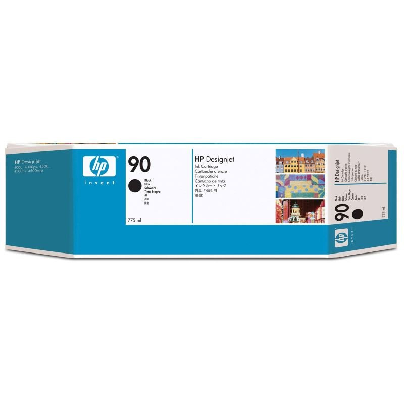 HP 90 Multi-pack 3x  Black Original Ink Cartridge - Extra High Yield 3 x 775ml - C5095A