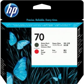 HP 70 Red and Matte Black Printhead - C9409A