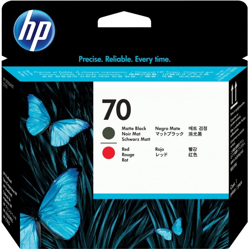 HP 70 Red and Matte Black Printhead  C9409A