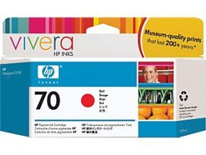 HP 70 130ml Red Ink Cartridge with Vivera ink