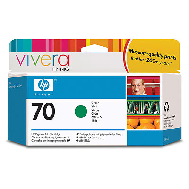 *HP 70 Green Ink Cartridge - C9457A