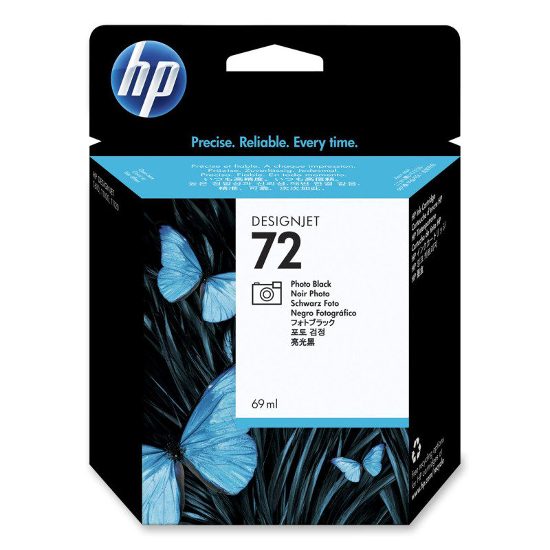 HP 72 69ml Photo Black Ink Cartridge with Vivera Ink  C9397A