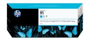 HP 91 775ml Pigmented Cyan Ink Cartridge With Vivera Ink